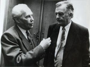 Eduard Goldstücker und Kurt Krolop © Goethe-Institut