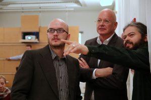 Der Leiter der Forschungsstelle Prof. Manfred Weinberg